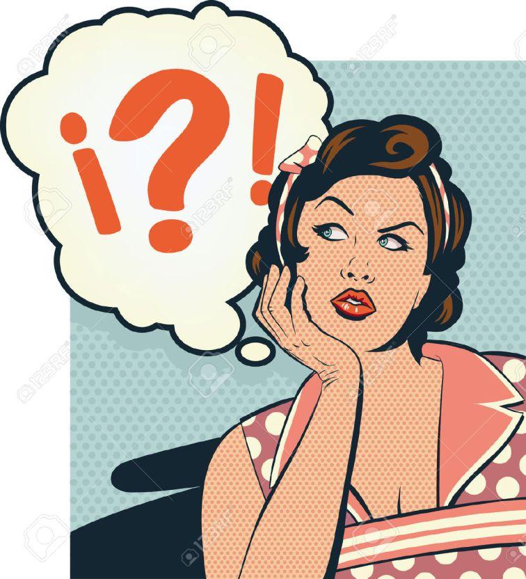 23089793-Retro-confused-girl-Stock-Vector-woman